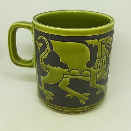 Hornsea Welsh Dragon Mug Green