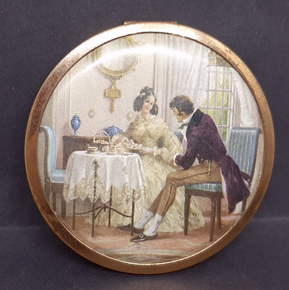 1940s Powder Compact Afternoon High Tea Romantic Couple