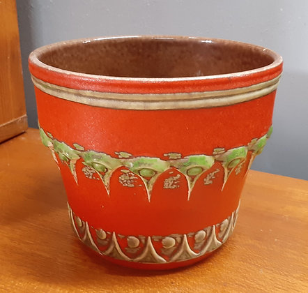 U Keramik Uebelacker Planter Orange & Green 212-17