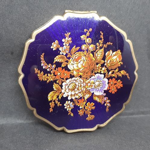 Stratton Princess Blue Enamel Vintage Blooms