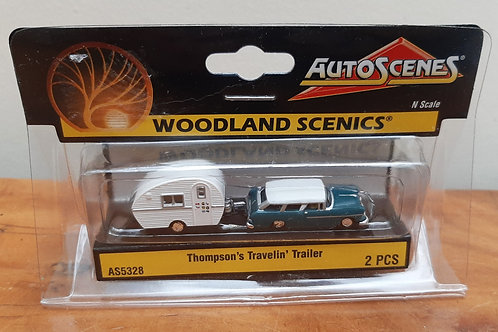 Woodland Scenic N Scale AS5328 Thompson's Travelin Trailer