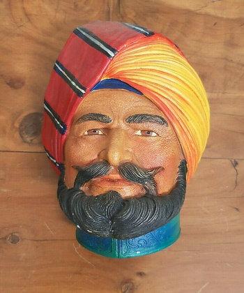 Vintage Legend Chalkware Plaque Indian Prince