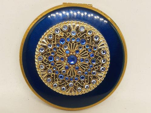 Kigu Cobalt Enamel Blue Jewel Gold Filigree Complete