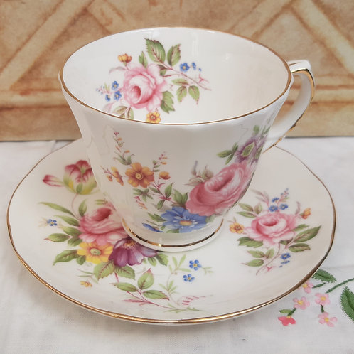 Duchess China Cups & Saucer Rose Floral Spray