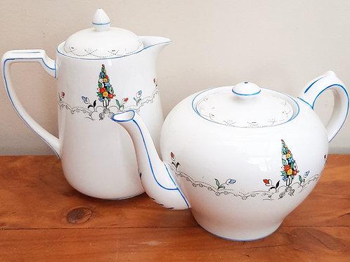 Carlton China Teapot & Hot Water Jug Spring Flowers