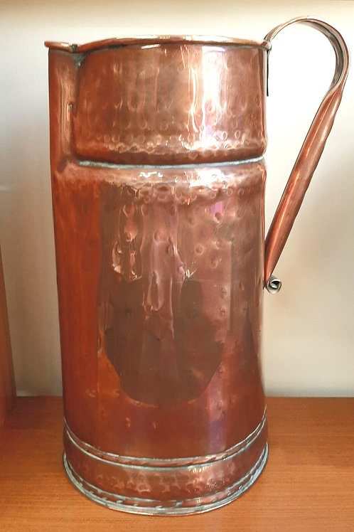 Huge Rustic Vintage Copper Pitcher