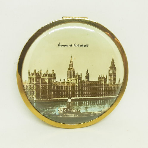 1950s Houses of Parliament Powder Compact