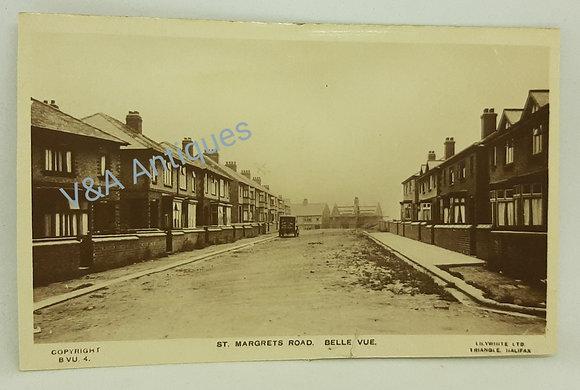 St Margrets Road Belle Vue Doncaster RP Postcard