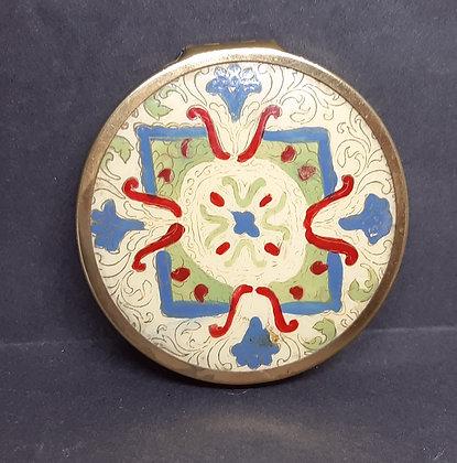 LSM LS Mayer Scotland Unusual Painted Powder Compact