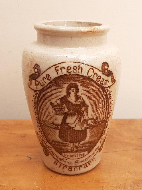 Stoneware Cream Pot Wigtownshire Creamery Stranraer