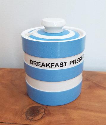 T.G Green Blue Cornish Ware Breakfast Preserve Jar
