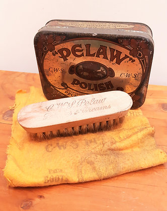 PELAW Polish Tin inc Original Cloth & Brush C.W.S
