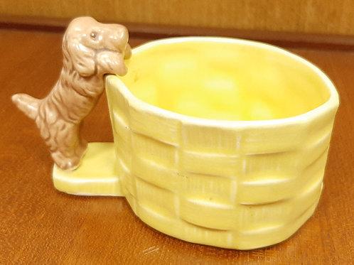 SylvaC 1996 Yellow Basket with Brown Dog
