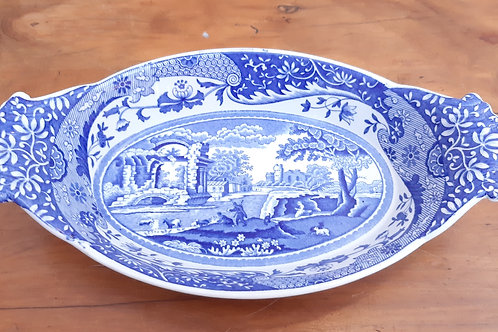 Spode BLue Italian Small Handled Serving Dish