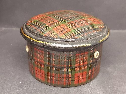 "Antique Tartan Ware Spool Thread Box ""Albert"" Clan"