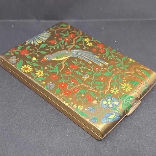 Vogue Vanities Notebook Style Compact Exotic Bird & Flowers