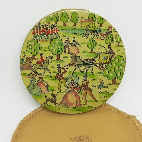 Vogue Vanities Enamel Victorian Life Compact