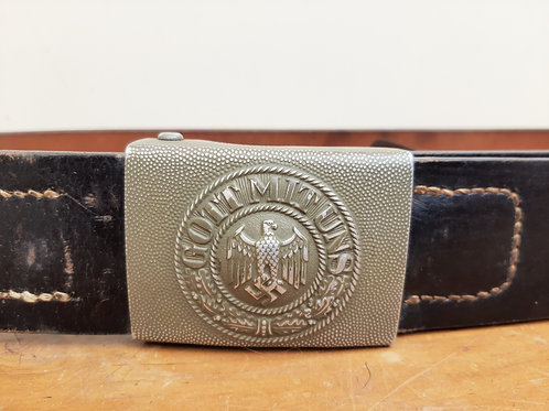 Original Gott Mit Uns German Belt & Buckle 1938 R.S&S