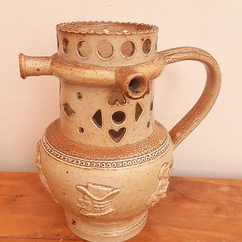 Early 19thC Salt Glaze Puzzle Jug Relief Moulding