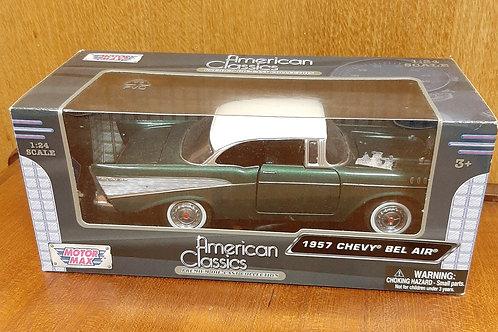 Motor Max 1957 Chevy Bel Air Green Boxed