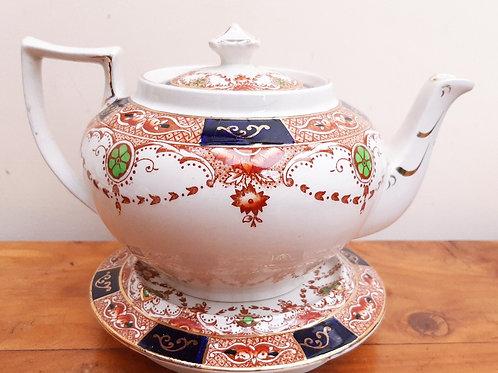 Burgess Bros Carlisle Ware Teapot & Stand 883 c1930's
