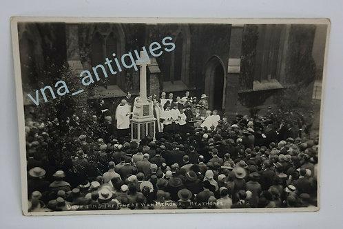 RP Postcard War Memorial Hexthorpe No2