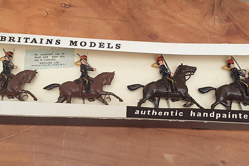 Vintage Britains Lead Toy Soldiers 7th Hussars Mounted 2075 Boxed