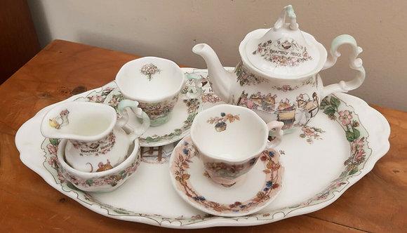 Royal Doulton Brambly Hedge Miniature Tea for Two Tea Set on Tray 8pc (2)