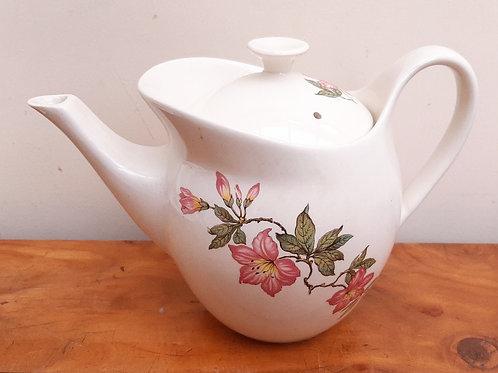 Crown Clarence Fashion Shape Teapot Hibiscus