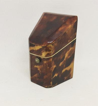 Early 19th Tortoiseshell Thimble/Needle Case