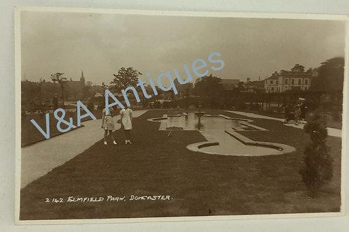 RP Postcard Elmfield Park Doncaster