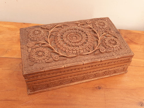 Quality Carved Decorative Wooden Box
