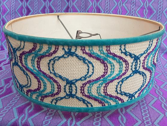 1960/70s Retro Original Ceiling Light Shade Stitched
