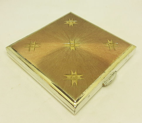 KIGU Silver Plated Brushed Gold Diamond Cut Compact