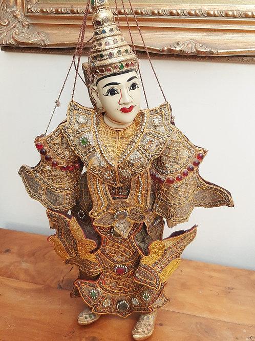 Vintage Thai Burmese Handmade Marionette Puppet