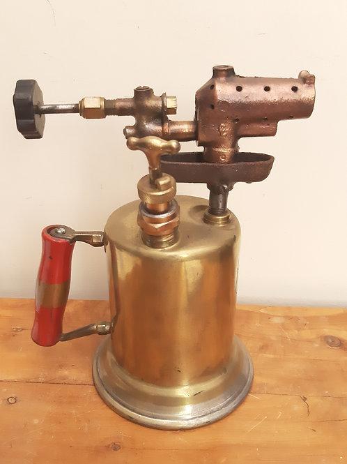 1920s Clayton & Lambert MFG Brass Blow Lamp Torch