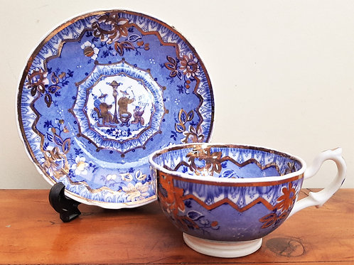 c1830 Hilditch The Musicians Cups & Saucer