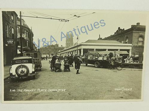 Market Place Doncaster RP Postcard Arjay