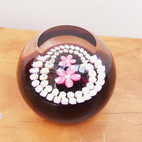 Caithness Paperweight Miniature Rose Millefiore