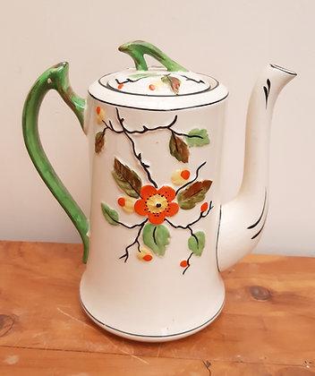 T.F & S Phoenix Pottery Coffee Pot BLOSSOM c1920s