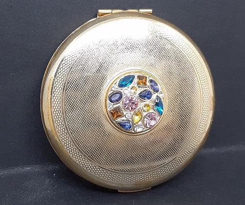 Unused Stratton Goldtone Jewelled Cabochon 1980s