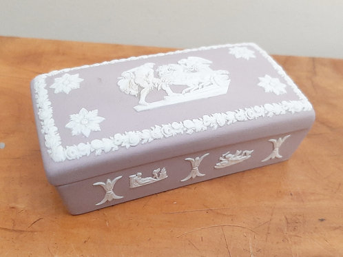 Wedgwood Lilac Jasperware Small Box