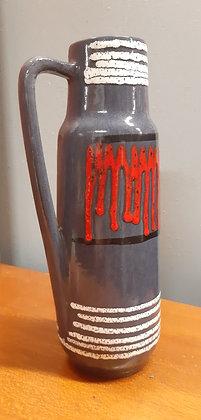 Scheurich 275-28 Jug Vase Grey Red White lava