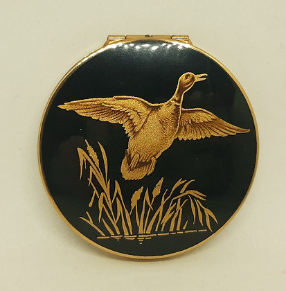 1950s Stratton Rondette Black & Gold Flying Duck