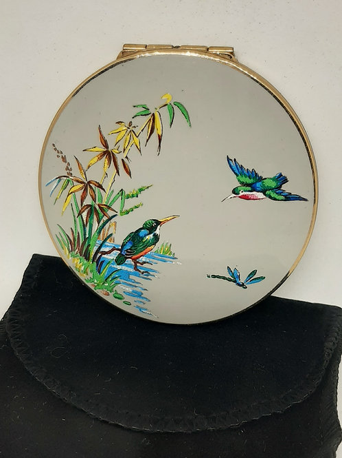 1950s Stratton Rondette Enamel Kingfishers O/H