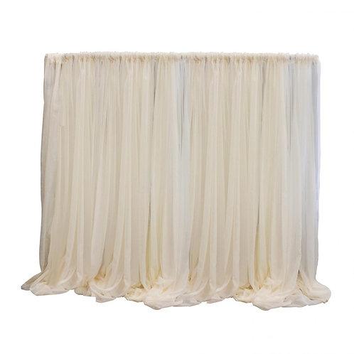 12x12ft Ivory Sheer Drape Panel