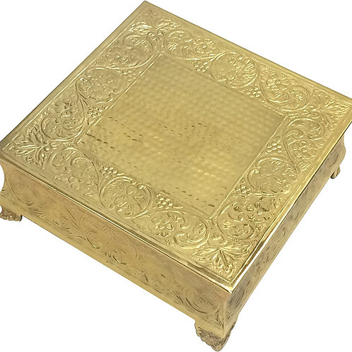 20in Gold Square Cake Stand