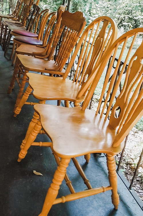 Mix and Match Wooden Chairs