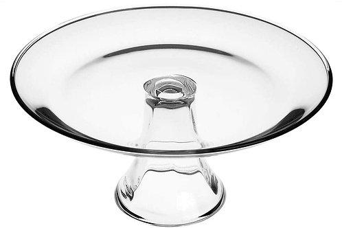 Clear Glass Pedestal-10in