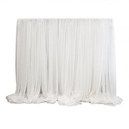 16'x12' White Sheer Drape Panel